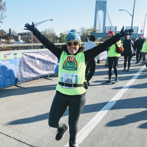 Elizabeth Day Runs New York Marathon