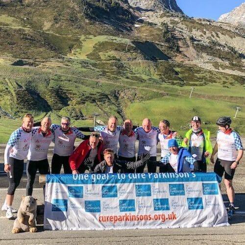 Group Photo men Raid Pyrenean 2019 trip