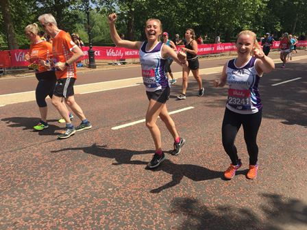 CP runners at the Vitality Big Half